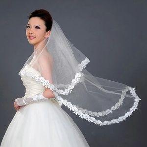 Cathedral Flower Lace Edge Bride Wedding Bridal Lo